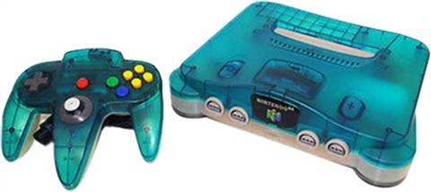Refurbished: Nintendo 64 Console, Clear Blue W/Expansion Pak (No Game), Unboxed