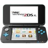 NEW 2DS XL Console, W/ AC Adapter, Black & Turquoise, Unboxed