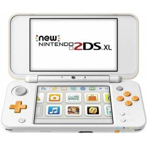 NEW 2DS XL Console, W/ AC Adapter, White & Orange, Discounted