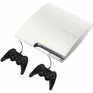 PS3 Slim Console, 320GB, White +2 Pads, Discounted