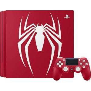 Playstation 4 Pro Console, 1TB Spider-Man Red (No Game), Boxed