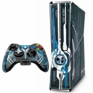 Microsoft Xbox 360S (Slim) Console, 320GB, Halo 4 Ed. + 1Pad (No Game) Unboxed