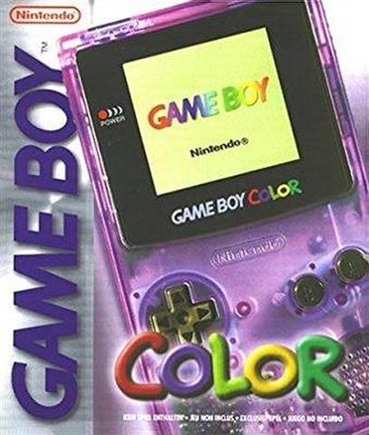 Refurbished: Game Boy Color Console, Clear Purple, Boxed