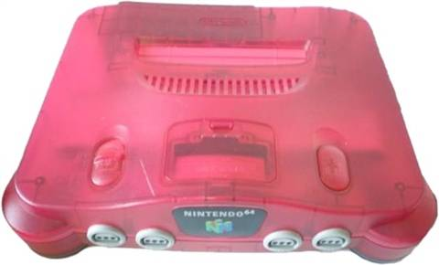 Refurbished: Nintendo 64 Console, Watermelon Red W/Expansion Pak, Discounted