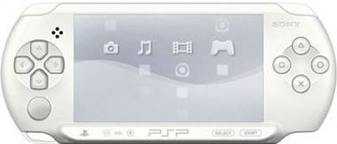 """Refurbished: PSP E1000 """"Street"""" Console, White, Unboxed"""