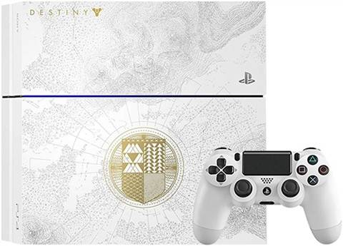 Playstation 4 Console, 500GB Destiny TK White LE (No Game), Unboxed