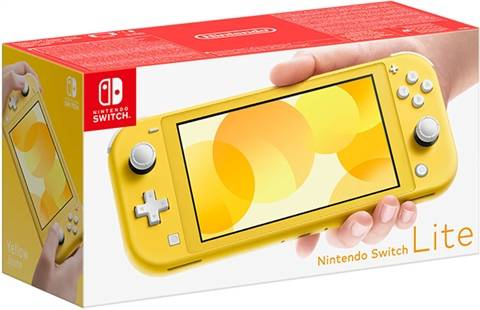Refurbished: Nintendo Switch Lite Console, 32GB Yellow, Boxed