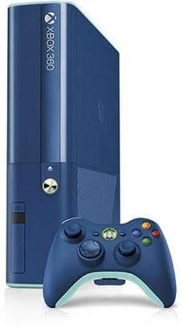 "Microsoft Xbox 360 ""E"" Console, 500GB, Blue SE, Discounted"