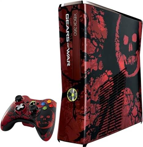 Microsoft Xbox 360S (Slim) Console, Gears of War 3 Ed. +1Pad (No Game), Unboxed