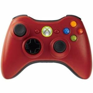 Microsoft X360 Official Resident Evil Red Wireless Controller