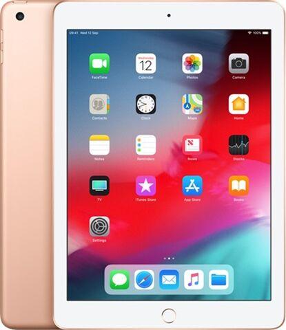 "Refurbished: Apple iPad 6th Gen (A1893) 9.7"" 128GB - Gold, WiFi B"