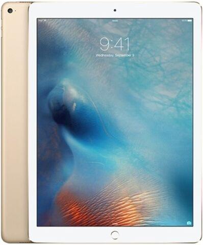 """Refurbished: Apple iPad Pro 12.9"""" 1st Gen (A1652)  128GB - Gold, Unlocked B"""