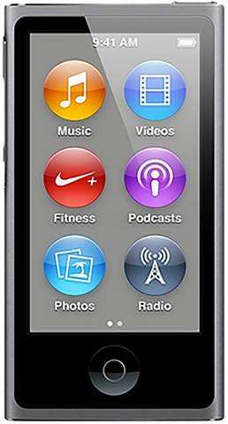 Refurbished: Apple iPod Nano 7th Generation 16GB - Space Grey, B