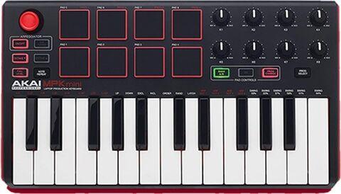 Refurbished: Akai Professional MPK Mini MKII 25-Key Ultra-Portable USB MIDI, A