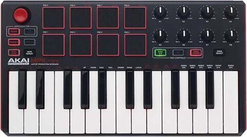 Refurbished: Akai Professional MPK Mini MKII 25-Key Ultra-Portable USB MIDI, B