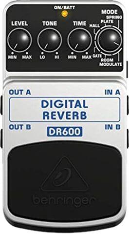 Refurbished: Behringer DR600 24-Bit Digital Reverb Guitar Effects Pedal