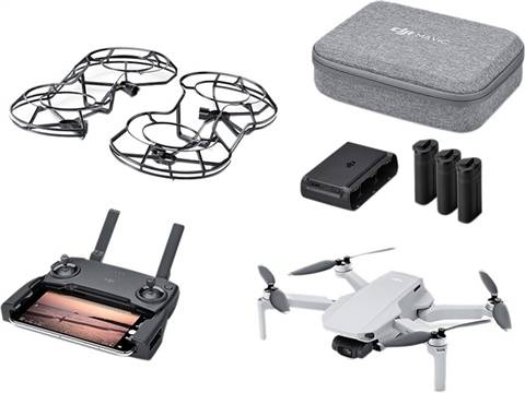 Refurbished: DJI Mavic Mini (FLy More Kit) Foldable Quadcopter - Grey, B