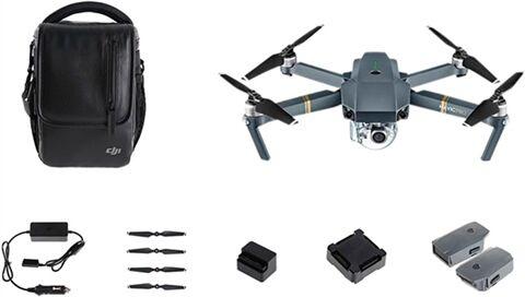 Refurbished: DJI Mavic Pro (Fly More Kit) Foldable Quadcopter - Space Grey, B