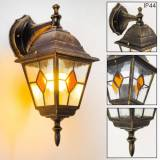 hofstein Antibes Outdoor Wall Light brown, gold, 1-light source - antique, cottage - outdoors - Unknown delivery time