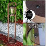 hofstein Outdoor floor lamp Fulham rust-coloured, 1-light source -  - outdoors - Expected delivery time: 6-10 working days