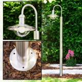 hofstein Elima outdoor floor lamp stainless steel, 1-light source - modern - outdoors - Expected delivery time: 6-10 working days