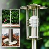 hofstein Fukuoka outdoor floor lamp stainless steel, transparent, clear, 1-light source - modern - outdoors - Unknown delivery time