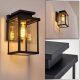 hofstein TIEVA Outdoor Wall Light black, 1-light source - modern - outdoors - Unknown delivery time