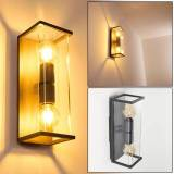 hofstein FAROER Outdoor Wall Light black, 2-light sources - vintage - outdoors - Expected delivery time: 6-10 working days
