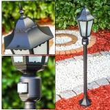 hofstein HONGKONG FROST outdoor floor lamp black, Motion sensor - antique, cottage - outdoors - Expected delivery time: 2-3 weeks