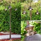 hofstein Outdoor floor lamp Lohja rust-coloured, 3-light sources - classic - outdoors - Expected delivery time: 2-3 weeks