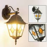 hofstein Brilliant Jason outdoor wall light black-gold, 1-light source - cottage - outdoors - Unknown delivery time