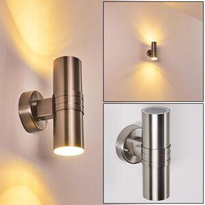 hofstein Satava Outdoor Wall Light LED chrome, 1-light source - modern - outdoors - Ships within: 6-10 Business days