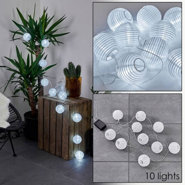 hofstein REDDING Solar fairy light LED white, 10-light sources - modern - outdoors - Expected delivery time: 2-3 weeks