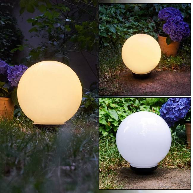 hofstein CAMPINAS globe light LED black, white, 1-light source - modern - outdoors - Expected delivery time: 6-10 working days