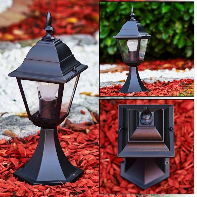 hofstein MURTO pedestal light black, 1-light source - cottage, classic - outdoors - Ships within: 6-10 Business days