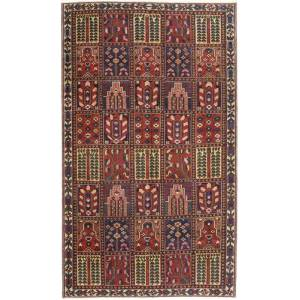 Knotted by hand. Origin: Persia / Iran Bakhtiari Patina Rug 154X263 Authentic  Oriental Handknotted Brown/Dark Red (Wool, Persia/Iran)