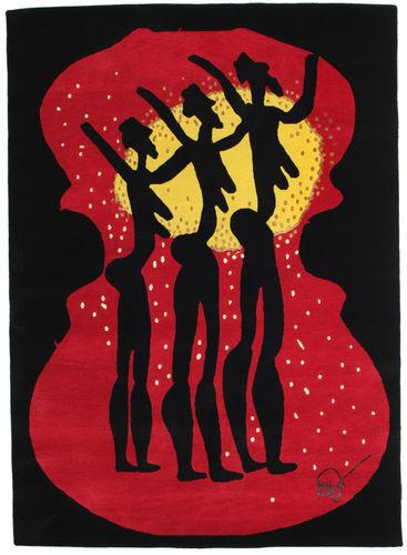 Knotted by hand. Origin: India Dance 3  carpet 5′2″x7′2″ (158x219 cm) Modern Carpet