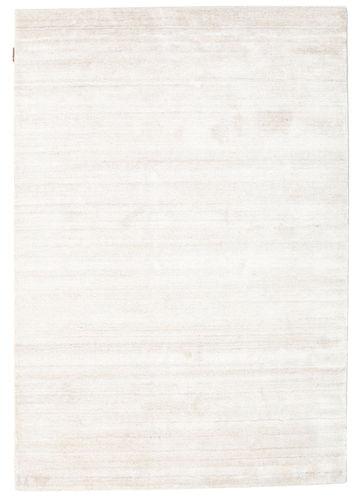 RugVista 140X200 Single Colored Rug Bamboo Silk Loom Beige/White/Creme