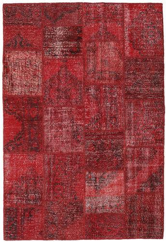 Knotted by hand. Origin: Turkey Patchwork Rug 157X231 Dark Red/Crimson Red (Wool, Turkey)
