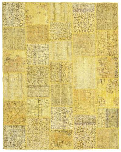Knotted by hand. Origin: Turkey 199X253 Patchwork Rug Authentic  Modern Handknotted Yellow (Wool, Turkey)