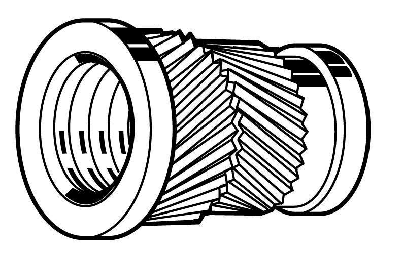 Fabory Thread insert for plastic sonic-fix headed Brass CU2/CU3 M3,5