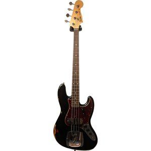 Fender Custom Shop 1964 Jazz Bass Relic Black Over 3 Tone Sunburst Rosewood Fingerboard #R99801