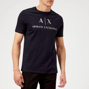Armani Exchange Men's Script Logo T-Shirt - Navy - M