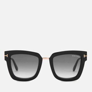 Tom Ford Women's Lara Square Frame Sunglasses - Black/Gradient Smoke