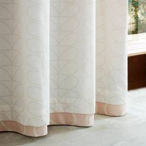 Orla Kiely Linear Stem Curtains - Cloud Pink - 90 x 72 Inches
