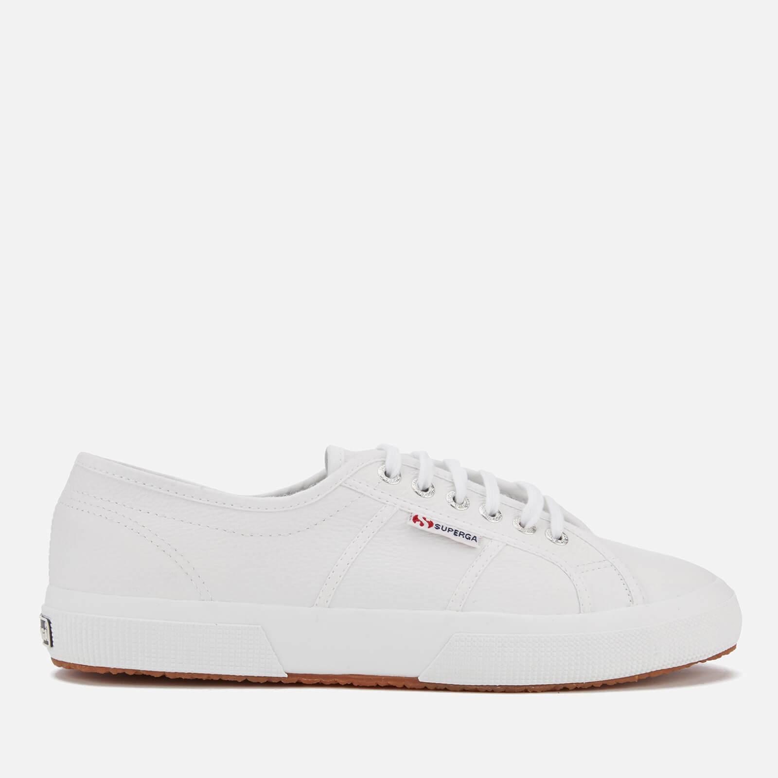 Superga 2750 Fglu Leather Trainers - White - UK 10 - White