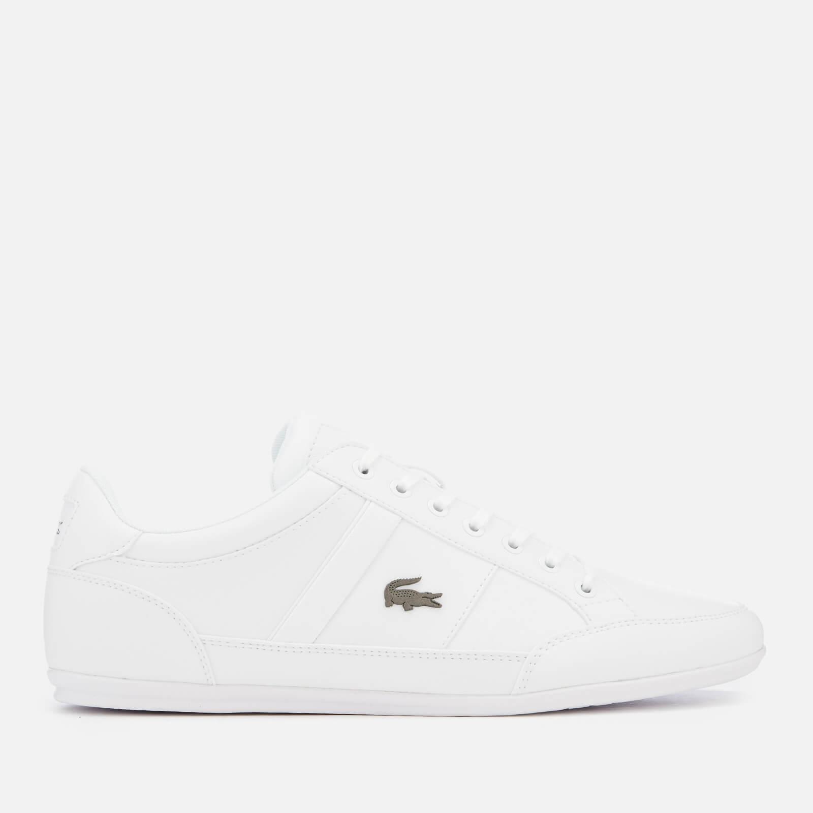 Lacoste Men's Chaymon Bl 1 Leather Low Profile Trainers - White/White - UK 8