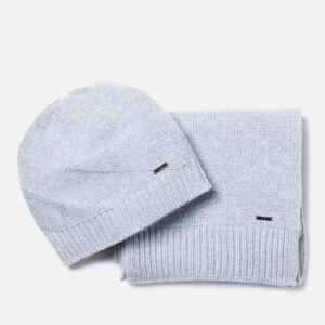 Hugo Boss Men's Zanto Beanie and Scarf Gift Set - Grey