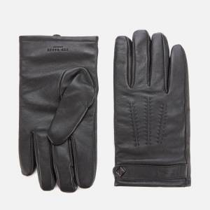Ted Baker Men's Tipps Leather Gloves in a Box - Black