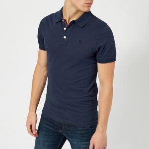 Tommy Jeans Men's Original Fine Pique Polo Shirt - Black Iris - XL